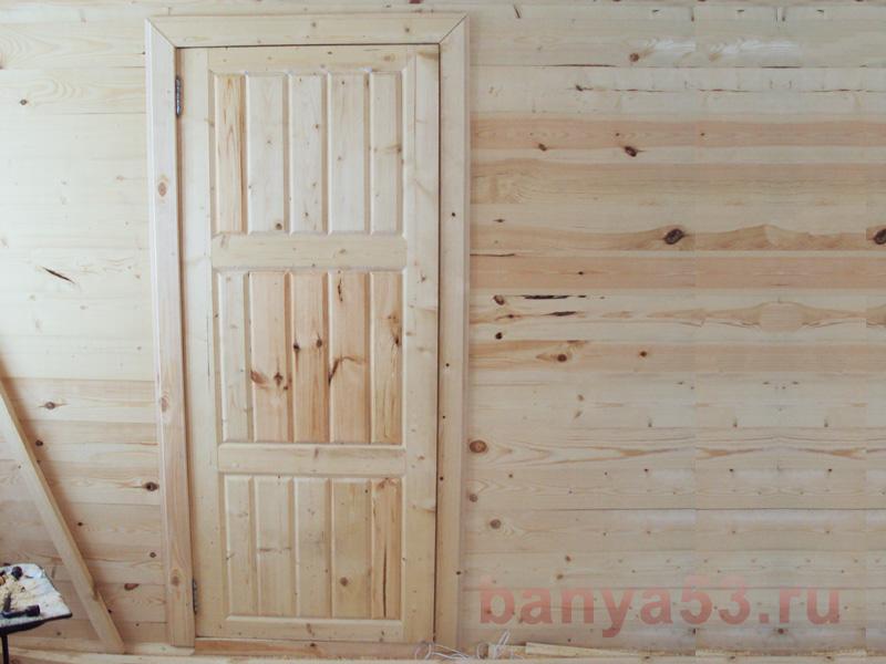 Межкомнатная дверь из вагонки своими руками 80