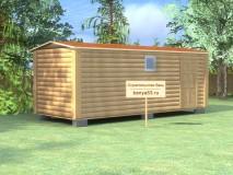 Мобильная баня 2.3х6 м