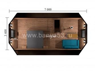 Баня 4х7 м