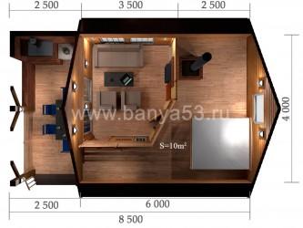 Баня 5.5х8.5 м