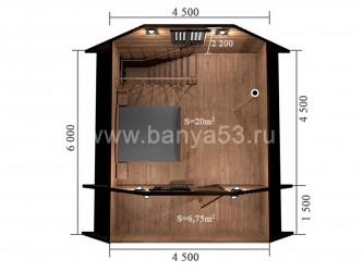 Баня 6x6 м