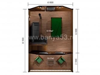 Баня 6x8.5 м
