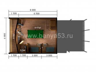 Баня 6x13.5 м