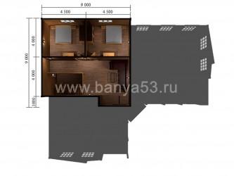Баня 15x18 м