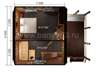 Дом 6x9 м