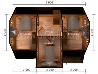Дом 9x7 м