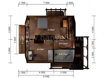 Дом 12,5x11 м