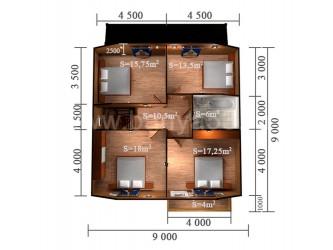 Дом 9x11 м