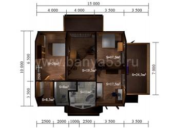 Дом 15x15 м