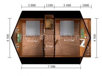 Дом 6x7,5 м