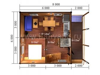 Дом 6x8 м