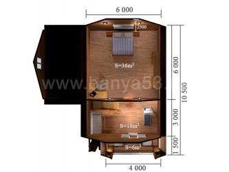 Дом 10x10,5 м