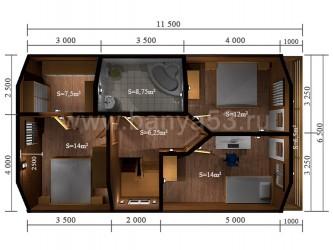 Дом 14x12 м
