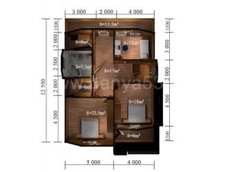Дом 14,5x10 м