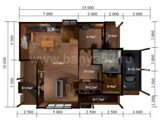 Дом 10x15 м