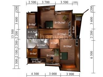 Дом 13,5x13,5 м