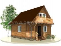 Каркасный дом 7,5x6 м