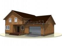Дом 14х15,5 м