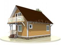Каркасный дом 6x7,5 м