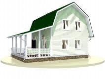 Каркасный дом 6x9 м