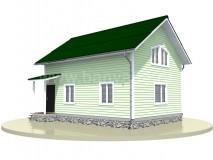 Каркасный дом 6x8 м