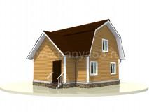 Каркасный дом 8x7,5 м