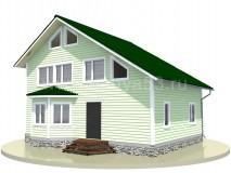 Каркасный дом 9,5x7 м