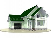 Каркасный дом 10x10,5 м