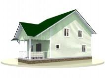 Каркасный дом 12x7 м