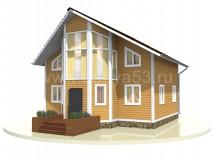 Каркасный дом 9x9 м