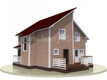 Каркасный дом 11x9 м