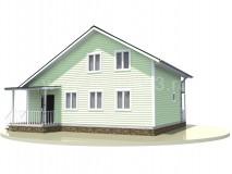 Каркасный дом 10x9 м