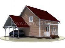 Каркасный дом 12,5x11 м