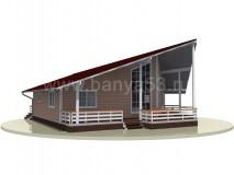 Каркасный дом 12x13 м