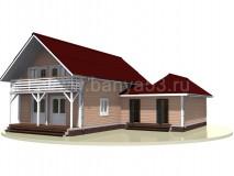Каркасный дом 14x12 м