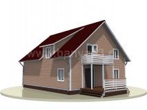 Каркасный дом 13,5x9,5 м