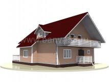 Каркасный дом 14,5x10 м
