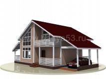 Каркасный дом 10x15 м