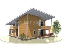 Каркасный дом 13,5x13,5 м