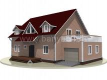 Каркасный дом 15x15 м