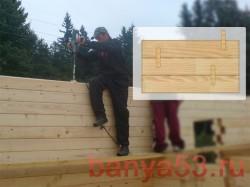 Применение деревянных нагелей